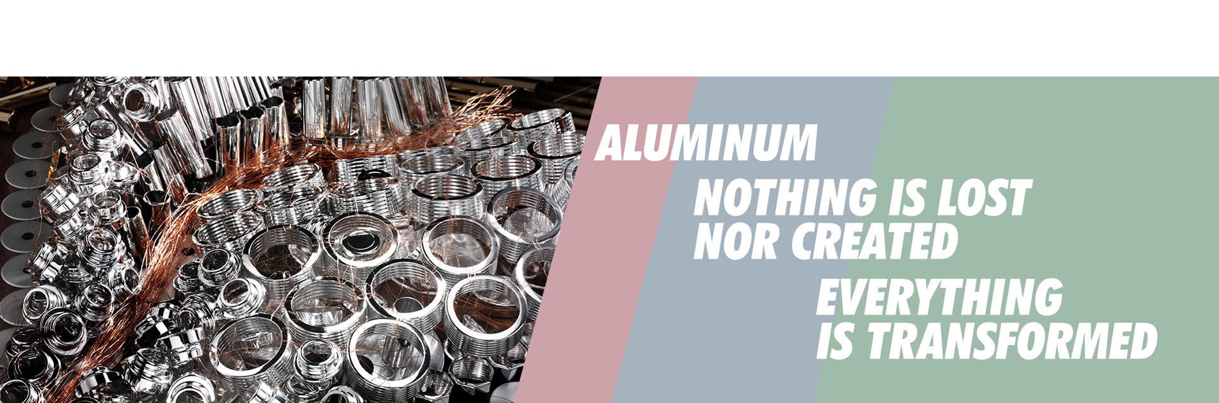 alluminio materiale riutilizzabile